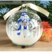 Unison Gifts Inc Light Up Christmas Ornament - Scarfed Snowman