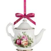 Royal Albert Christmas Ornament, Old Country Roses Teapot