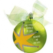 Carlton Heirloom Special Beautiful Glass Ball Star Christmas Ornament