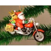 Cape Shore Santa Harley Motorcycle Hog Chopper Christmas Ornament