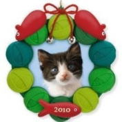Pretty Kitty Photo Holder 2010 Hallmark Ornament