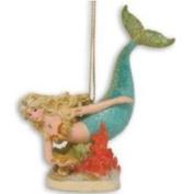 Cape Shore Tropical Beach Mermaid Island Christmas Tree Ornament