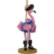 Cape Shore Tropical Pirate Girl Pink Flamingo Christmas Ornament