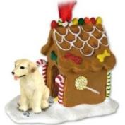 Eyedeal Figurines Yellow Lab Labrador Retriever Gingerbread House Christmas Ornament