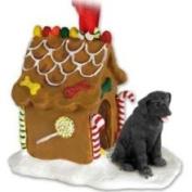 Eyedeal Figurines Black Lab Labrador Retriever Gingerbread House Christmas Ornament
