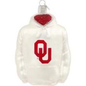 Football Fanatics Oklahoma Sooners Glass Hoodie Ornament