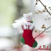 Annalee 3 Shimmermint Kitty Ornament
