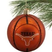 Texas Longhorns Glass Basketball Ornament