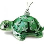 Buns of Maui Hawaiian Glass Christmas Ornament Honu Turtle