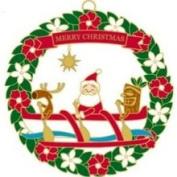 Buns of Maui Hawaiian Metal Christmas Ornament Santa's Outrigger Canoe