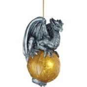Design Toscano Protector of The Gothic Portal Celtic Dragon 2010 Holiday Ornament Set of Three