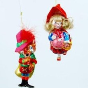 One Hundred 80 Degrees Red Riding Hood Big Bad Wolf Fairy Tale Christmas Holiday Ornament Set of 2