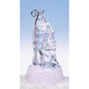 18cm Icy Crystal LED Lighted Religious Holy Family Christmas Nativity Figure
