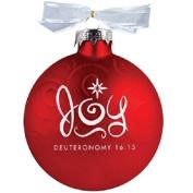 Lighthouse Christian Products Joy Swirl Glass Ornament