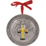 Lighthouse Christian Products God So Loved The World Globe Ornament