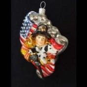 CC Home Furnishings Polonaise Hero Fireman Christmas Ornament #AP0315