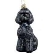 Macys Joy to The World Christmas Ornament, Toy Poodle Black