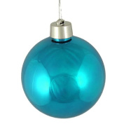 Huge Shiny Turquoise Blue Shatterproof Christmas Ball Ornament 12""