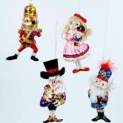 One Hundred 80 Degrees Storybook Nutcracker Ballet Christmas Holiday Tree Ornament Set of 4