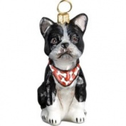 Macys Joy to The World Christmas Ornament, Boston Terrier with Bandana