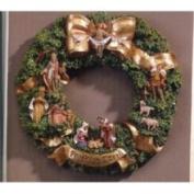 Fontanini 25.4cm Holy Family & Three Kings Christmas Nativity Wreath #546