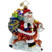 BestWishes Christopher Radko Christmas Ornament, Ride Along Reindeer
