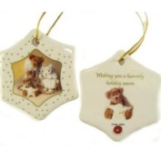 Club Pack of 192 Porcelain Boyds Holiday Bears Christmas Ornamen