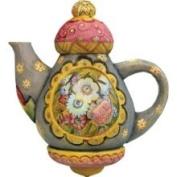 G.debrekht G.debrekht Grey Teapot Ornament