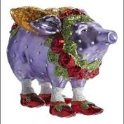 Patience Brewster Violetta Pig Glass Ornament