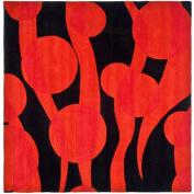 Safavieh SOH755A-6SQ Soho Black and Red Square