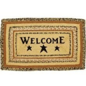 Kettle Grove Jute Rug Braided; Rectangle Stencil Welcome