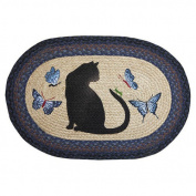 EarthRugs Cat and Grasshopper Novelty Rug Size