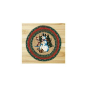 Capitol Importing 80-246WW Winter Wonderland - 10 in. x 10 in. Hand Printed Round Swatch
