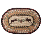 EarthRugs Moose and Pinecone Novelty Rug Size