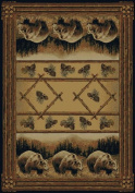 United Weavers of America Hautman Grizzly Pines 0.3m x 0.9m Rug Scatter, Multicolor