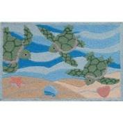 Jellybean Sea Turtle Beach Indoor Outdoor Rug Other