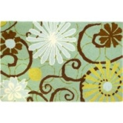Homefires Daisies on Blue Rug Size