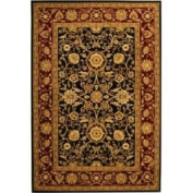 Safavieh Lyndhurst Collection Black and Red 2' 3 x 6' Rectangle Rug