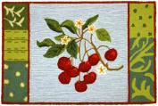 Homefire Rugs PY-GA005 55.9cm . x 86.4cm . Cherry with Blossoms Rug