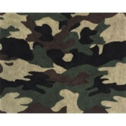 Camo Green and Khaki Decorative Accent Rug by Sweet JoJo Designs