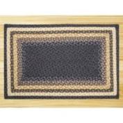 EarthRugs Blue/Mustard Rug Rug Size