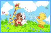 Little Suzy's Zoo Witzy Makes A Wish - 39x58 Inch SUZ-01 3958 Children's Play Rug