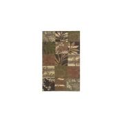 Surya COS8818-1616 Cosmopolitan Rug- 100% Poly-Acrylic- Hand Tufted- Avocado/Light Fern/Beige/Tan/Caramel/Dark Brown- 1'6''X1'6''