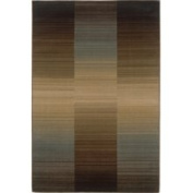 Sphinx - Sterling 1991D 1'25.4cm x 7'15.2cm Rectangular Brown / Blue Area Rug