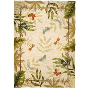Homefires Butterflies and Dragonflies Rug Size