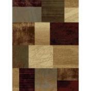 Tayse Rugs 5210 Multi 5x7 Elegance Rug - Brown-Ivory-Green-Blue