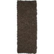 St. Croix Pelle Leather Dark Brown Rug Rug Size