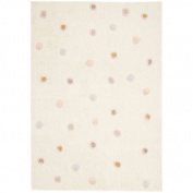 St. Croix Carousel White Dots Kids Rug Size