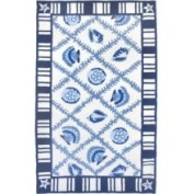 Home Fires AR-HF034C 3 ft. x 5 ft. Navy Indoor Hand Hooked Area Rug - Blue