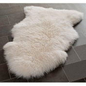 White 2'x3' Sheepskin Rug SHS121A